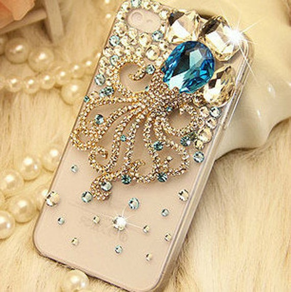 Items Similar To Gemstone Octopus Diy Phone Case Set Diy