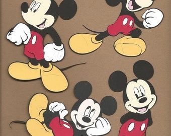 4- 9 inch tall assorted Mickey Mouse Cricut Die Cuts