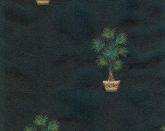 Black Topiary Fabric - 1 Yard