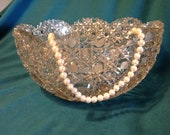 Cut Glass or Crystal Fruit Bowl, 1950's