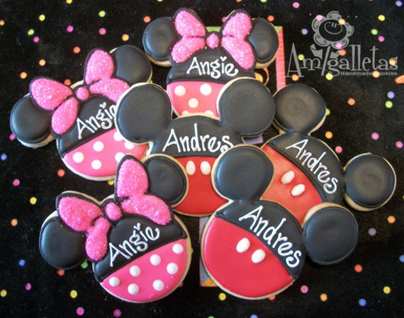 Minnie Mouse Or Mickey Mouse Cookies 1 Dozen