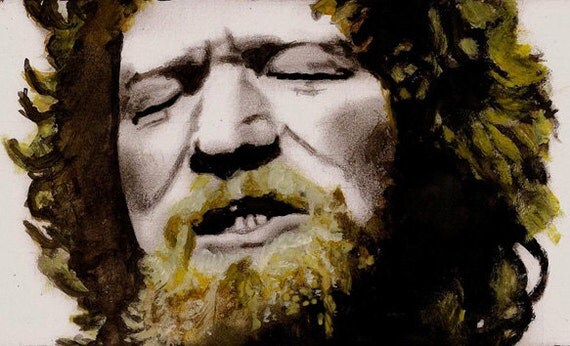 Luke Kelly, Dubliners Print reproduction of an original watercolour painting by Tuulia Tamminen - Size A3