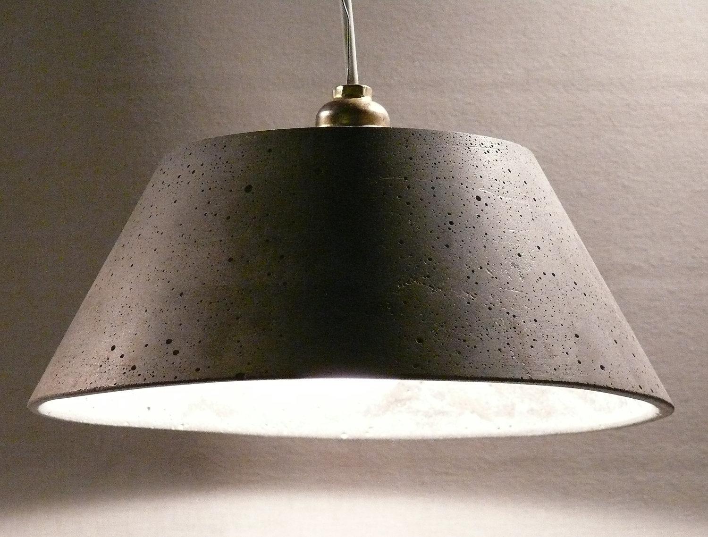 concrete pendant light catherina30 by ckleosteen on etsy