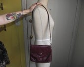 Vintage Burgundy Leather Etienne Aigner Shoulder/Cross Body Bag