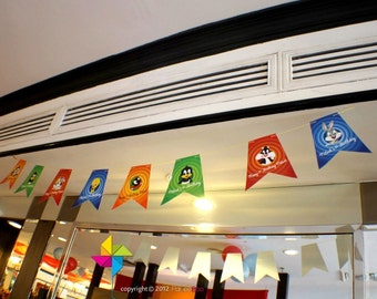 Customized Party Decorative Flags (Looney Tunes Theme) x 30 pcs