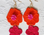 Macrame flower earrings