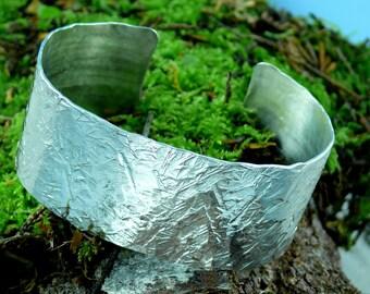 Cuff Sterling Silver Bracelet Wide
