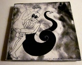 Ceramic Vintage Book Coaster - 1920s Erotic Art