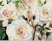 Roses Original Watercolor Reserved for Monica.  I will take orders