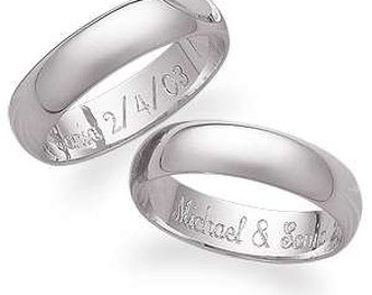 Personalized Sterling Silver Promise Ring - Free Engraving