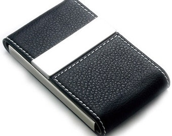 Quality Leatherette Business Card Case Free Engraving