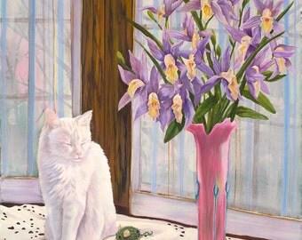 "12"" x 18"" Print of: Sapphire The Cat"