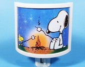 Snoopy and Woodstock camp fire vintage kids book Night Light cute nursery bathroom hallway bedroom TAKE IT with