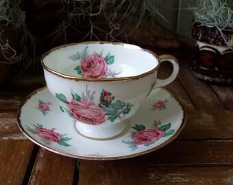 Vintage Adderley Bone China Tea Cup & Saucer