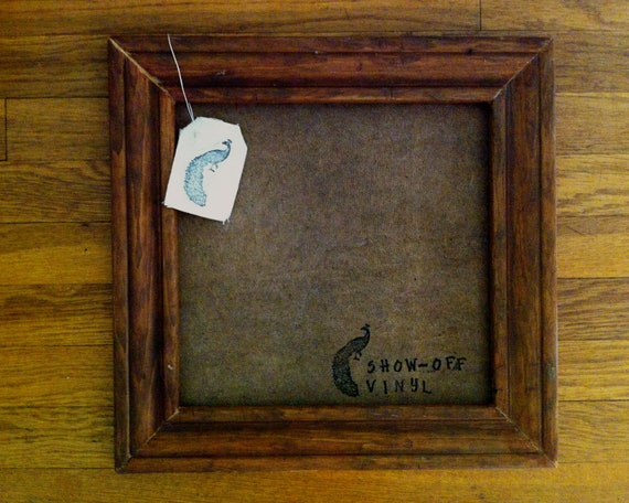 Record Frame - Handmade Vintage Cafe Brown Stained