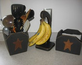 Napkin Holder Primitive with Rustic Star 3 Colors available