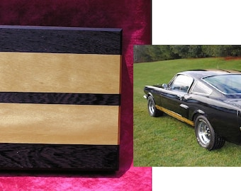 GT350H - Long grained, heavy,  Wenge and Yellow Heart Cutting Board.