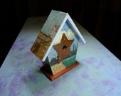 Van Gogh Vintage Print Birdhouse