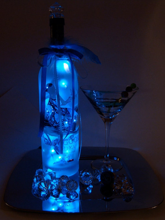 grey goose led light up liquor bottle lighted decorated
