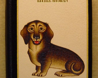 Handmade Leather Notebook Dachshund Dog