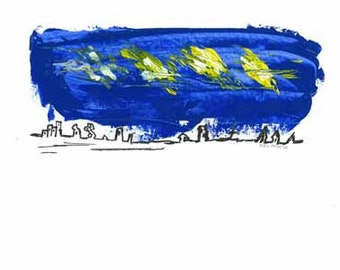 Night Time - quality paper- A3 ( 29.6 cm x 42  cm)