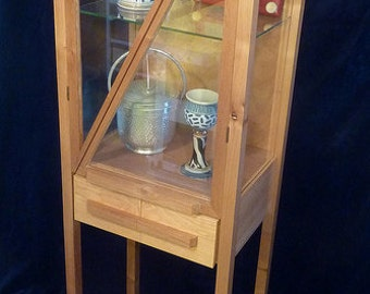 Cabinet Slash - 6 foot tall display case with glass sides and glass doors