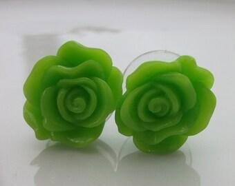 Small Kiwi Rose Earrings