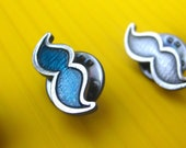 Large Silver Mustache Pin - Donation to Prostate Cancer Research