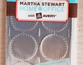 Martha Stewart Scalloped Edge Silver Embossed Mailing Seals, new in package