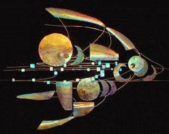 Cosmic Fish Wall Sculpture