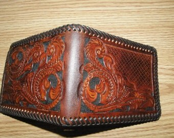 Custom / Personalized Hand-Tooled  Leather Wallet