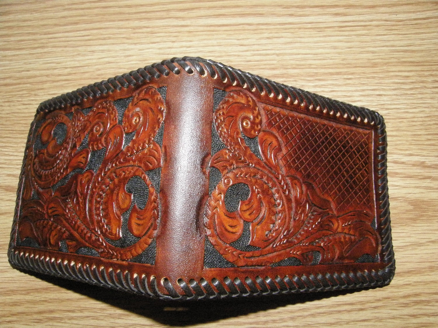 Custom Personalized Hand Tooled Leather Wallet