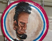 Original Painting- Abe Lincoln cheese grater