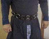 Custom Heavy leather ringed belt
