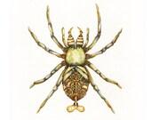 Steampunk Spider - Original Painting 12x9