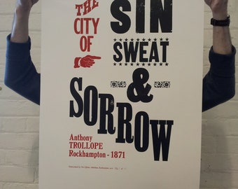 Hand Printed Letterpress Poster on Italian Art Paper (Numbered Edition of 35)