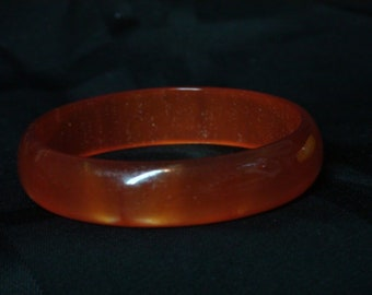 Burnt Orange Bakelite Bangle 5/8 inch(Large Yellow not included)