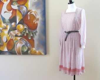 Sale use BLK15 coupon: Vintage Secretary Dress by Hal Ferman M/L 1970's