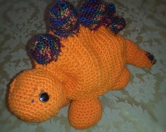 Orange Dinosaur Stegosaurus
