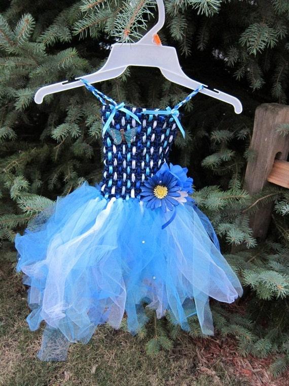 Cool Blue Tutu Dress