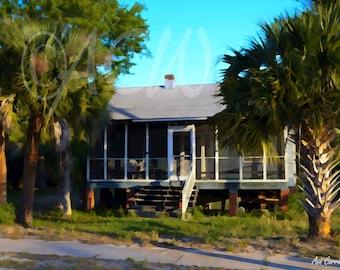 House on Sullivans Island, South Carolina (canvas)