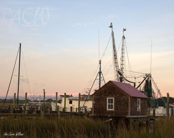 Pier on Shem Creek, Mt Pleasant, in South Carolina (PR) (canvas)