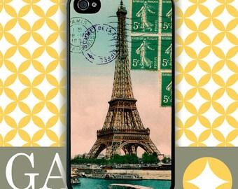 iPhone 5 Case, iPhone 4 Case, Samsung Case, Eiffel Postcard Vintage