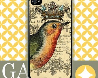 iPhone 6 Case, iPhone 6 Plus Case, iPhone 6 Edge Case, iPhone 5 Case, Galaxy S6 Case, Galaxy S5 Case, Galaxy Note 5 Case - Crowned Bird