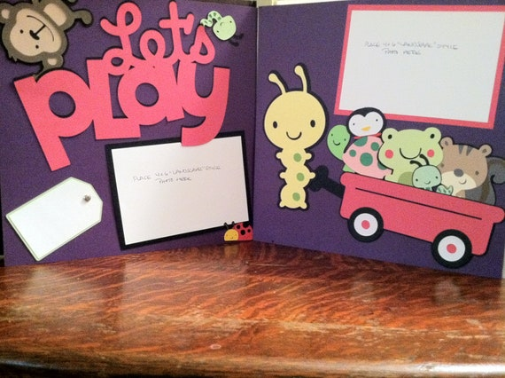 Girl/Baby Girl Let's play with Friends Pre Made 12 x12 Double Page Layout