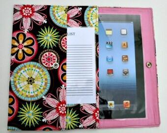 iPad, iPad2, iPad3 Case / Cover / Sleeve padded (READY TO SHIP) - Carnival Bloom