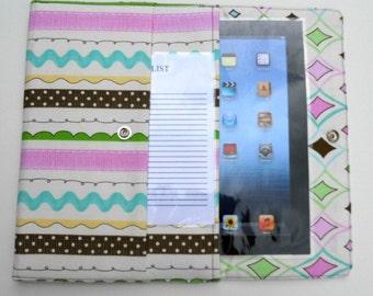 iPad, iPad2, iPad3 Case / Cover / Sleeve padded (READY TO SHIP) - Ribbons