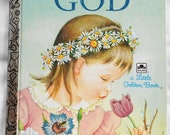 FREE U.S. shipping - My Little Golden Book About God by Jane Werner Watson - Vintage
