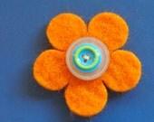 golden felt pin - badge