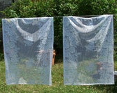 Vintage French Country Net Curtains